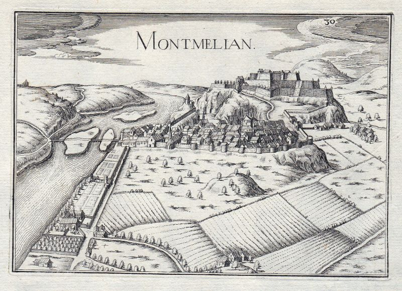 1630 Montmelian Savoie Rhone-Alpes Isere France gravure estampe Tassin