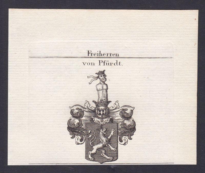 Pfirt Pfirdt Ferrette Österreich Austria Wappen Adel coat of arms Kupferstich 0
