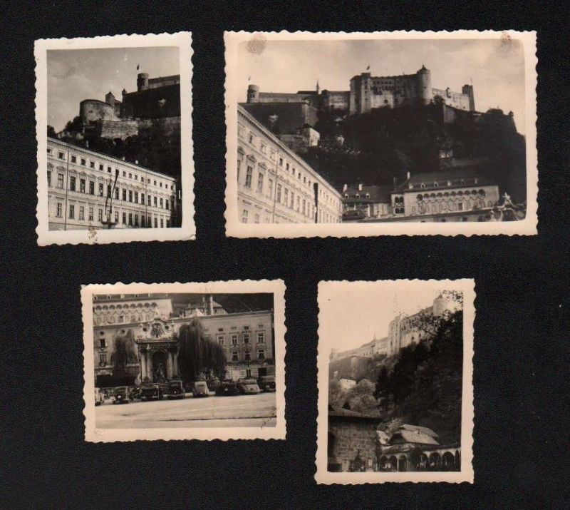 1940 Salzburg 4 x Original Foto Fotos Chronik Fotografie photo 0