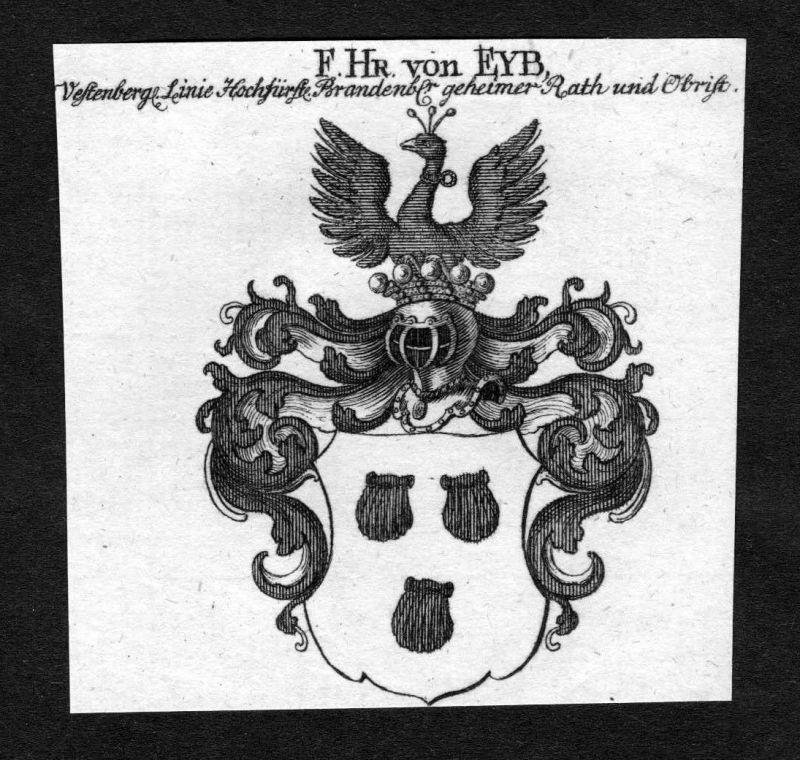 1750 - Eyb Wappen Adel coat of arms heraldry Heraldik Kupferstich 0