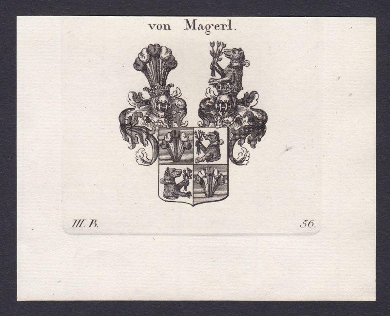 1820 Magerl Wappen Adel coat of arms heraldry Heraldik Kupferstich antique print 0