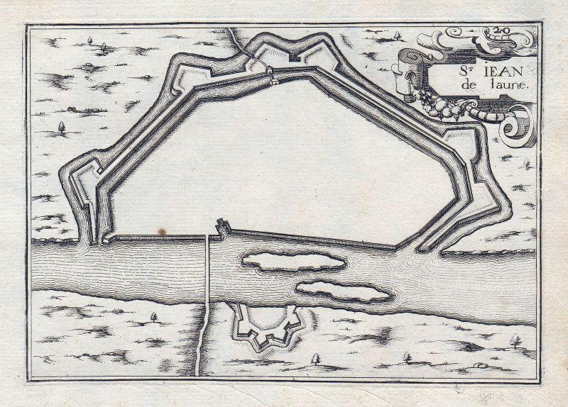 Saint-Jean-de-Losne Burgund Bourgogne France gravure estampe Kupferstich Tassin