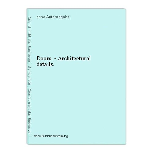 Doors. - Architectural details.