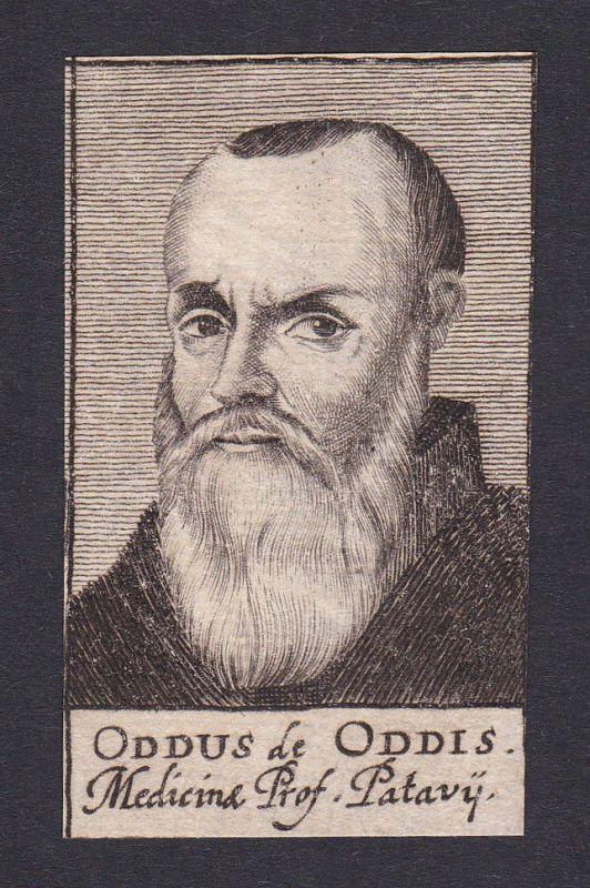 17. Jh. Oddo degli Oddi / doctor Arzt Mediziner Padua Portrait Kupferstich