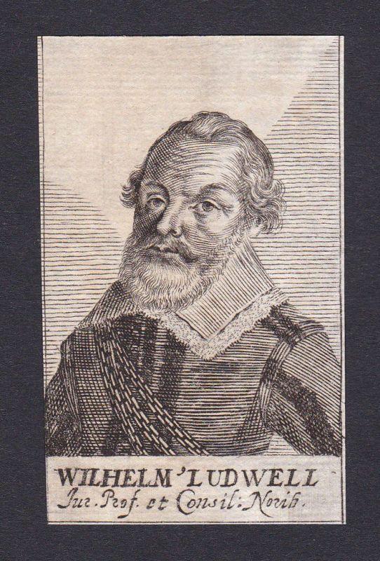 Wilhelm Ludwell lawyer Jurist professor Professor Nürnberg Portrait Kupferstich 0