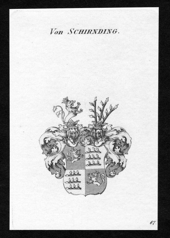 Ca. 1820 Schirnding Wappen Adel coat of arms Kupferstich antique print heraldry 0