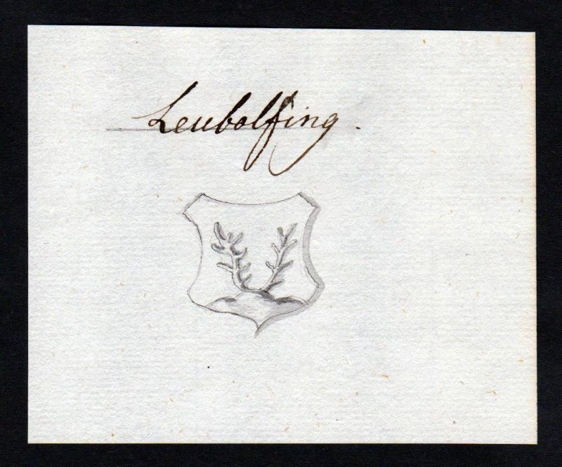 18. Jh. Leubelfing Leubolfing Manuskript Wappen manuscript coat of arms 0