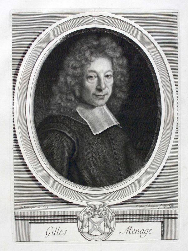 Gilles Menage grammairien historien Grammatiker Historiker Portrait ca. 1700 0