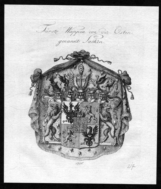 1790 von der Osten genannt Sacken Osten-Sacken Wappen Adel coat of arms Heraldik 0