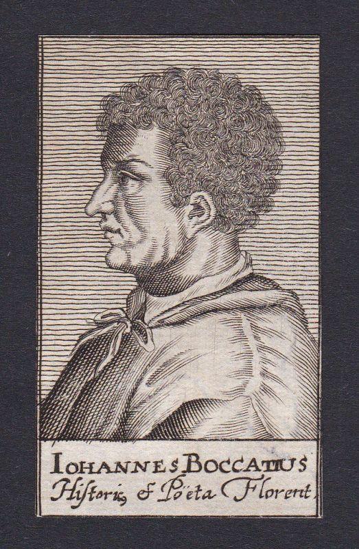 17. Jh. - Johannes Bock / poet diplomat educator Firenze Portrait Kupferstich 0