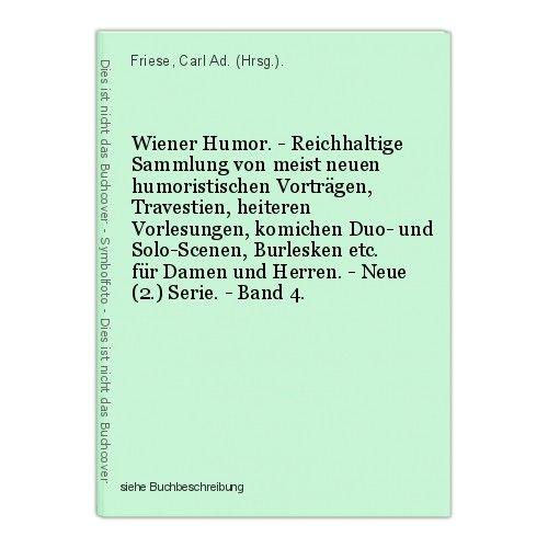 Wiener Humor. - Reichhaltige Sammlung von meist neuen humoristischen Vortr 39933 0