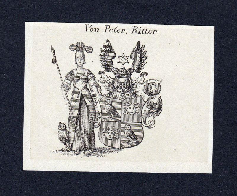 1820 Peter Wappen Adel coat of arms heraldry Heraldik Kupferstich engraving 0