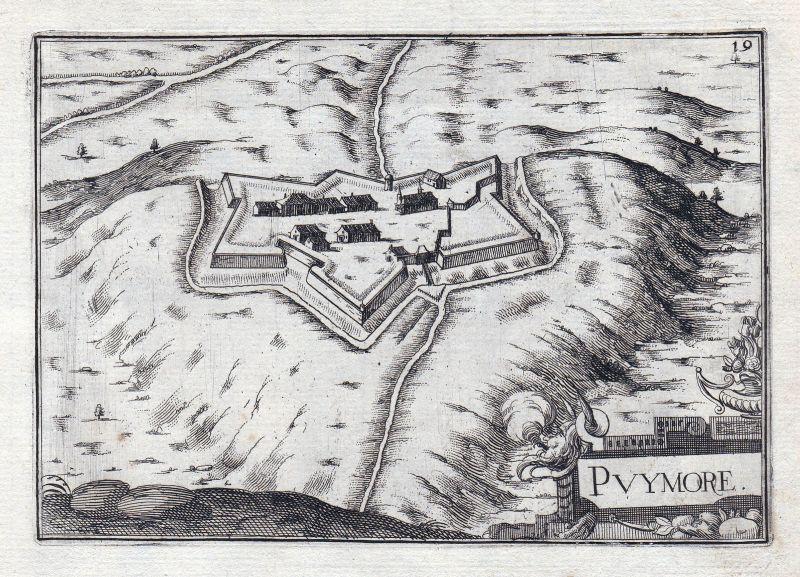 1630 Alpes-Cote d'Azur Haute-Aples France gravure estampe Kupferstich Tas 146335