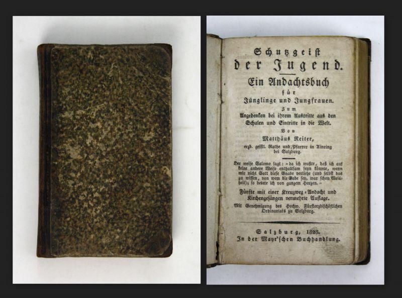 1828 Reiter - Schutzgeist der Jugend - Gebetbuch Jungen Mädchen Salzburg 0
