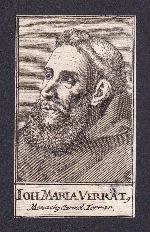 17. Jh. Giovanni Maria Verrati theologian Theologe Ferrara Portrait Kupferstich 0