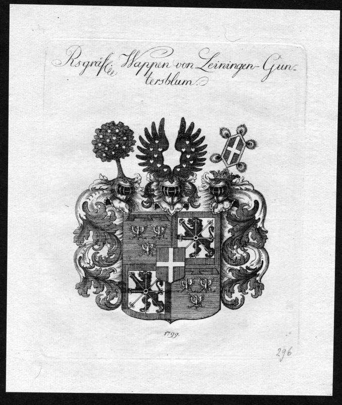 1790 - Leiningen-Guntersblum Wappen Adel coat of arms heraldry Heraldik 0