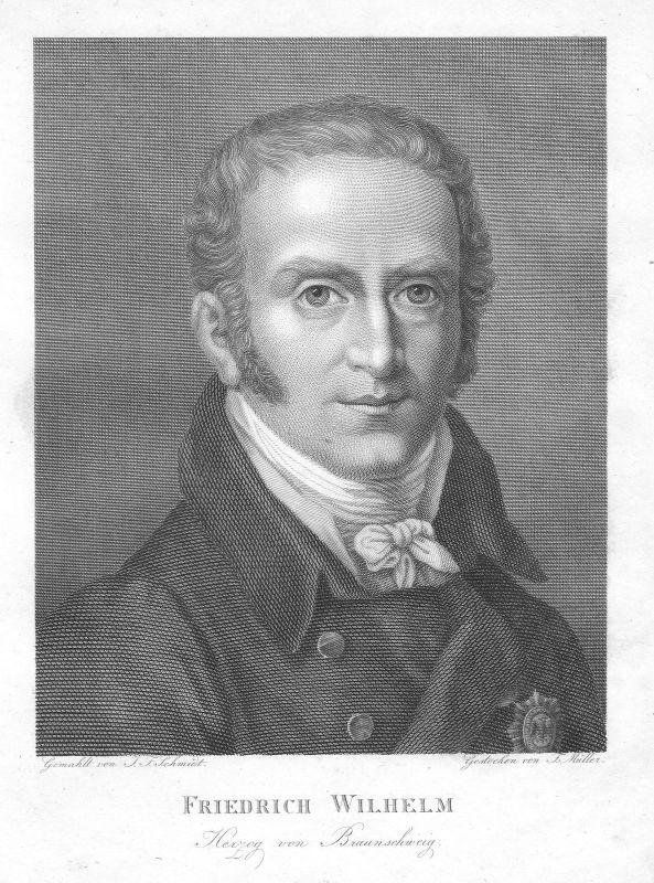 1820 Friedrich Wilhelm Braunschweig-Wolfenbüttel Herzog Portrait Müller Schmidt 0