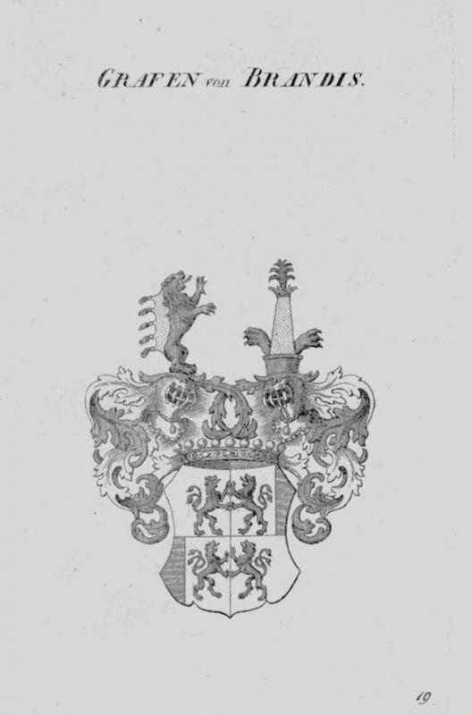 1820 - Brandis Wappen Adel coat of arms heraldry Heraldik crest Kupferstich 0