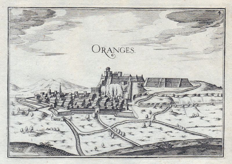 1630 Orange Provence-Alpes-Côte d'Azur Vaucluse France gravure estampe Ta 146378 0