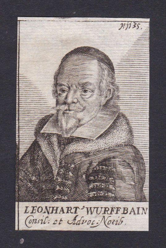 17. Jh. - Leonhart Wuffbain / consultant Berater Nürnberg Portrait Kupferstich 0