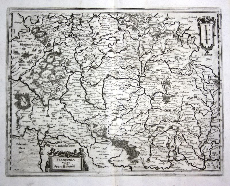 1679 Franken Nürnberg Würzburg Ansicht view Kupferstich antique print Merian