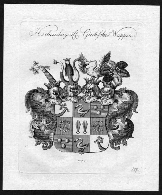 1790 - Giech Wappen Adel coat of arms heraldry Heraldik Kupferstich 0