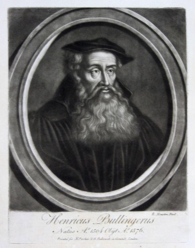 1759 Richard Houston Heinrich Bullinger Portrait Aquatinta mezzotint Reformator 0