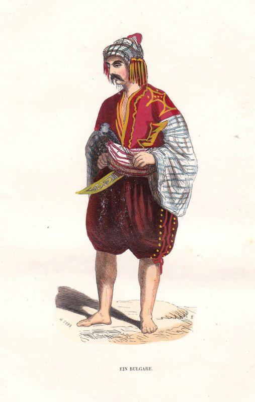 1840 Bulgare bulgarian Bulgaria Bulgarien Europa Europe Tracht costume Grafik 0