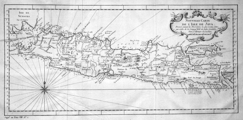 Java Jawa Indonesia Indonesien Karte map plan Kupferstich antique print B 162918 0