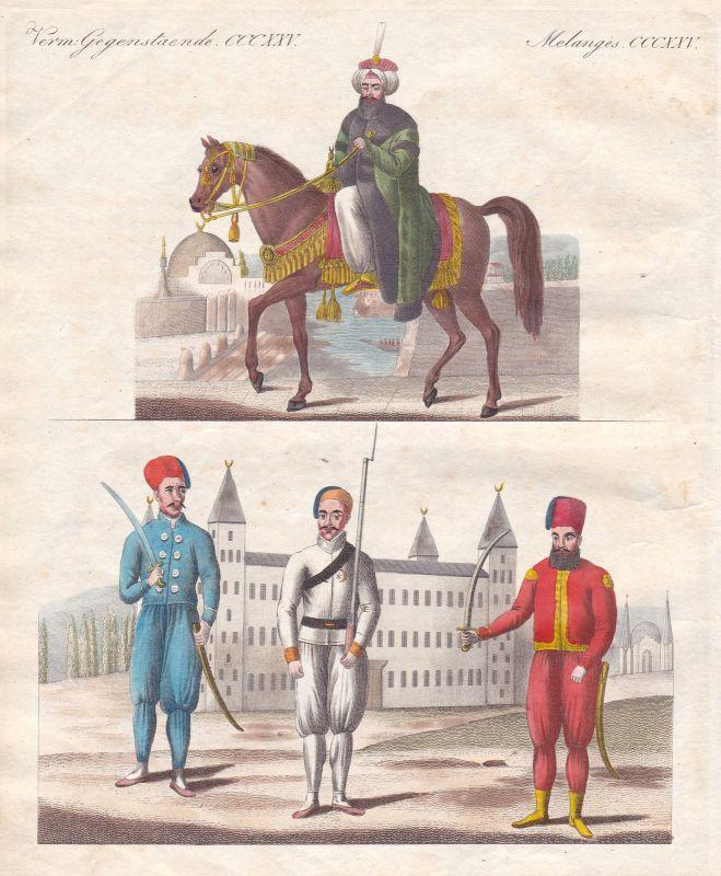 Mahmud II. Truppen troops Sultan sultan horse Pferd Tracht costume Bertuch 1800 0