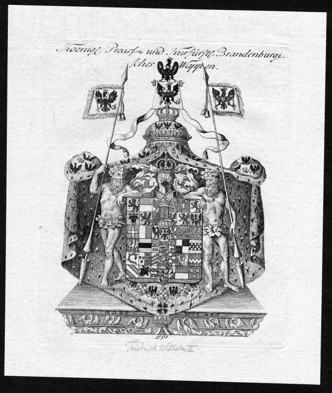 1790 - Brandenburg Wappen Adel coat of arms heraldry Heraldik Kupferstich 0