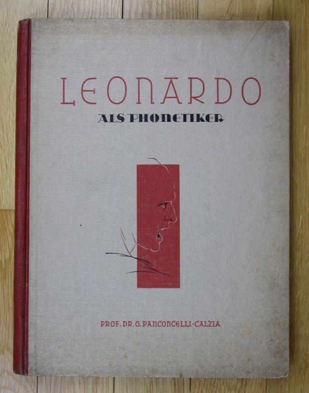 1943 Panconcelli-Calzia Leonardo als Phonetiker Da Vinci Phonetik 0