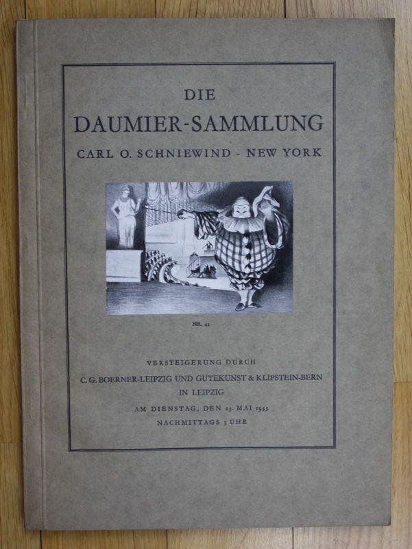 1933 Die Daumer-Sammlung Carl O. Schniewind Auktion Katalog Boemer 0