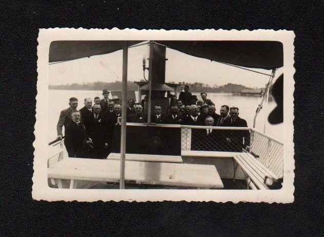 1934 Chiemsee Dampfboot Schiff Dampfschiff Original Foto photo vintage 0