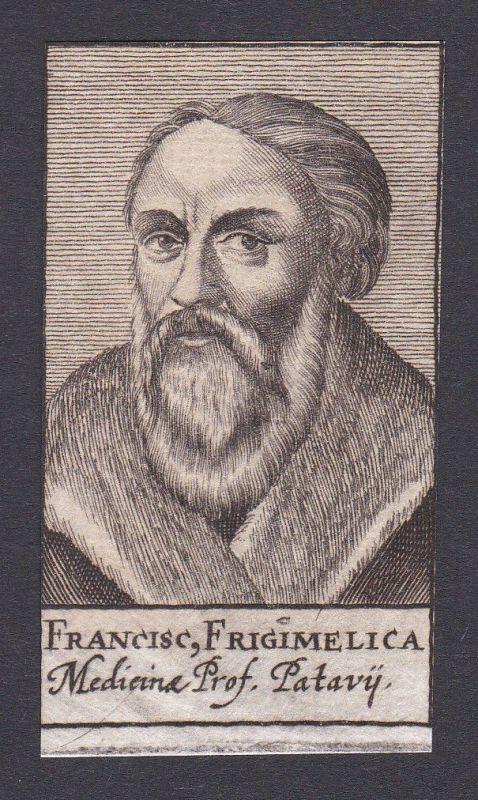 17. Jh. Francesco Frigimelica / doctor Mediziner Arzt Padua Portrait Kupferstich