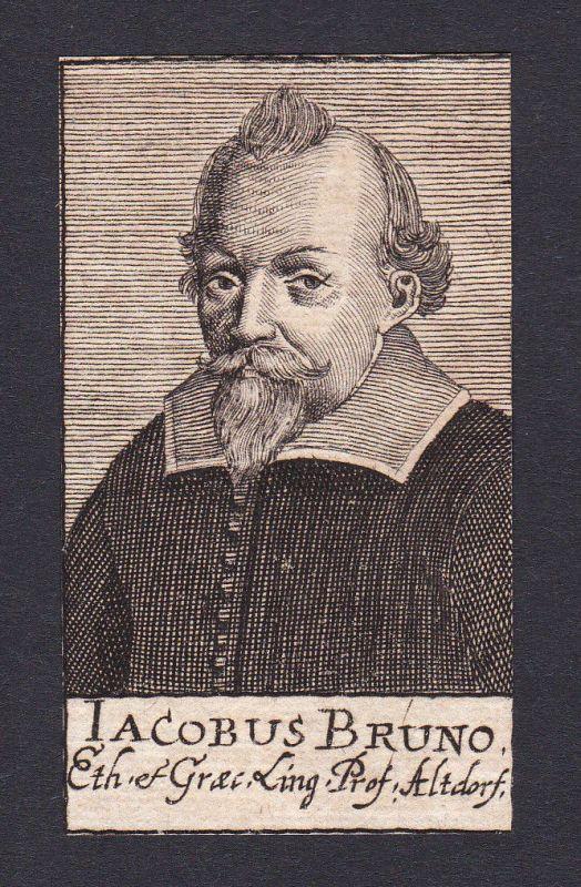 17. Jh. Jakob Bruno / philosopher Philosoph Altdorf Portrait Kupferstich 0