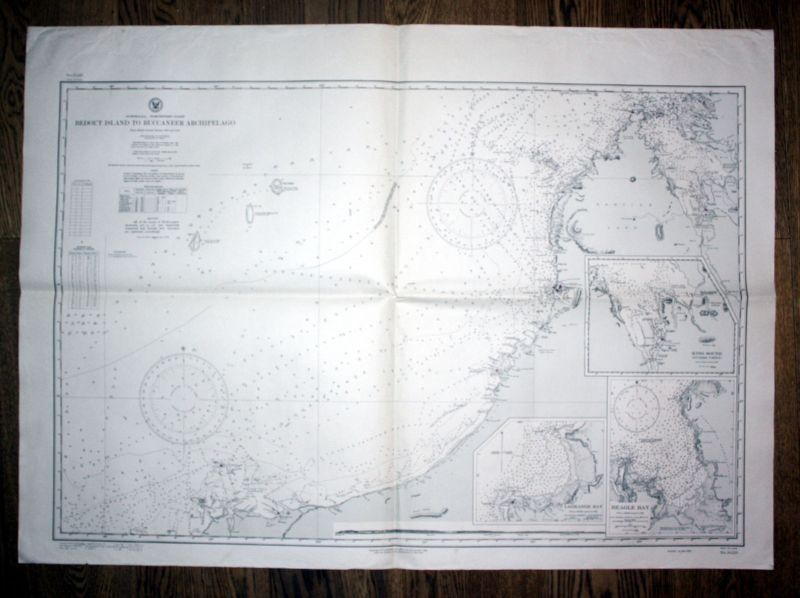 1924 Australia northwest coast Dampier Archipelago to Melville Island sea chart