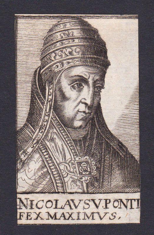 17. Jh. Nikolaus V. / pope Papst Rom Italien Italy Portrait Kupferstich
