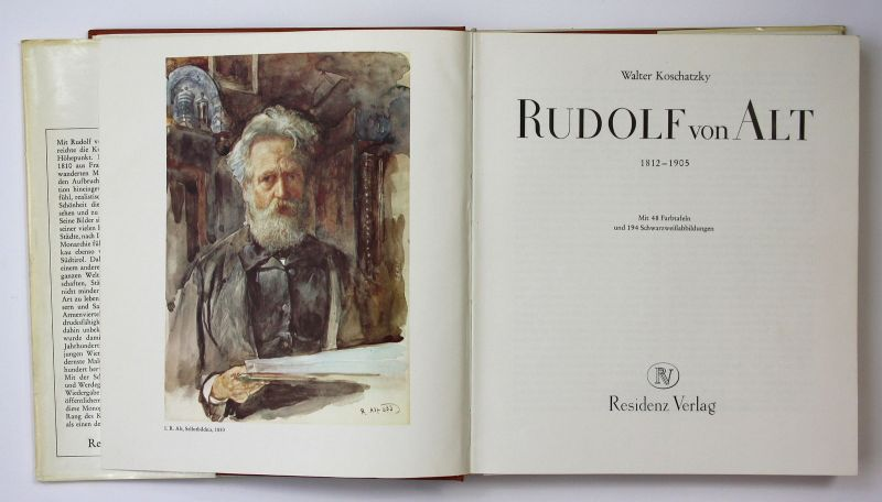 1975 Walter Koschatzky - Rudolf von Alt 1812-1905 - Kunst Werke 1