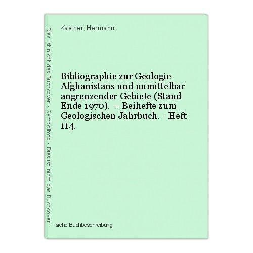 Bibliographie zur Geologie Afghanistans und unmittelbar angrenzender Gebiete (St