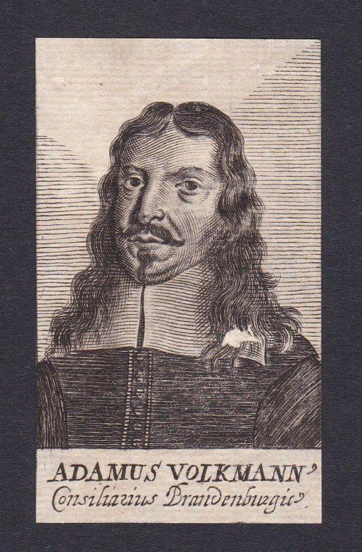 17. Jh. Adam Volkmann / lawyer Jurist Brandenburg Portrait Kupferstich 0