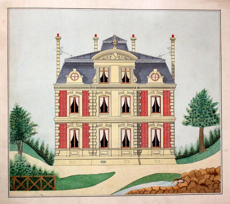 Haus house Gebäude building maison Architektur architecture Zeichnung drawing 0