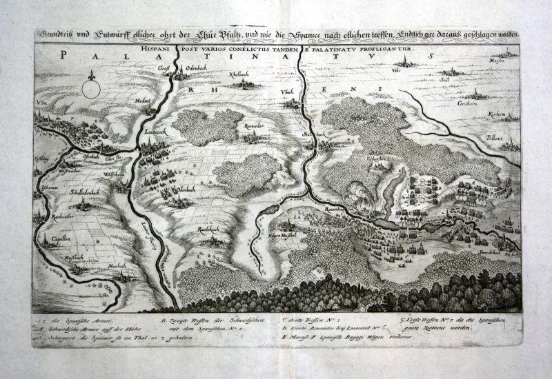 1679 Lauterecken Kurpfalz Pfalz Ansicht view Kupferstich antique print Merian 0