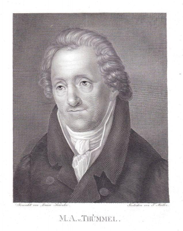 1820 Moritz August von Thümmel Schriftsteller Leipzig Portrait Müller Seideler 0