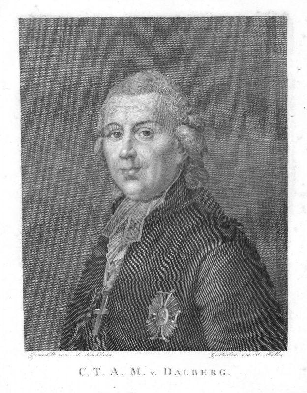 Ca 1820 Karl Theodor von Dalberg Konstanz Worms Mainz Regensburg Portrait Müller 0
