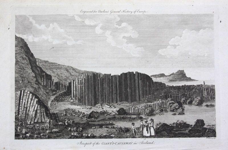 Ca. 1790 Giant's Causeway Bushmills Ireland view Ansicht Kupferstich engraving 0