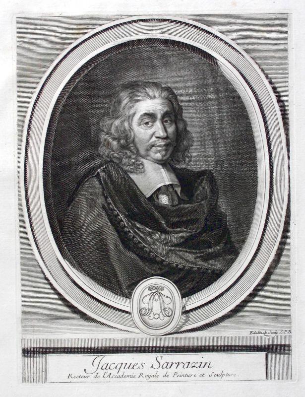 Jacques Sarazin Sarrazin Bildhauer sculpteur sculptor Portrait gravure ca. 1700 0