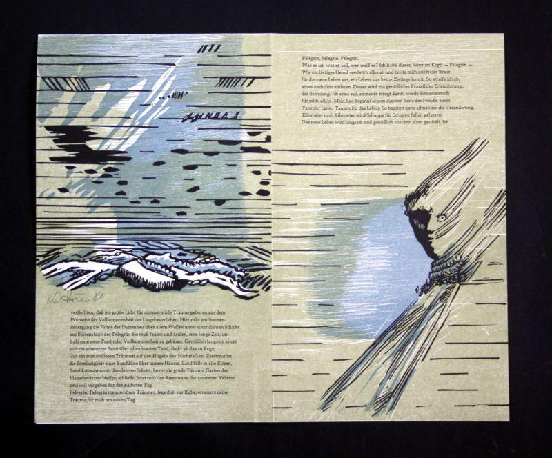 1981 Wolfgang Huss Linolschnitt zu Erzählung