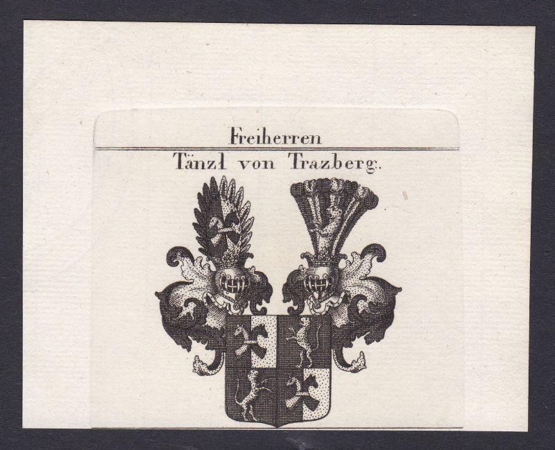 1820 Tänzl Tratzberg Österreich Austria Wappen Adel coat of arms Kupferstich 0