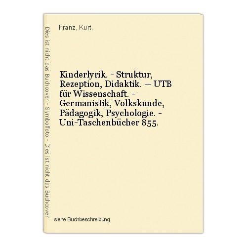 Kinderlyrik. - Struktur, Rezeption, Didaktik. -- UTB für Wissenschaft. - Germani 0